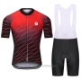 2021 Cycling Jersey Steep Red Short Sleeve and Bib Short