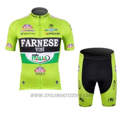 Cycling Jersey Farnese Black and Green Short Sleeve and Bib Short