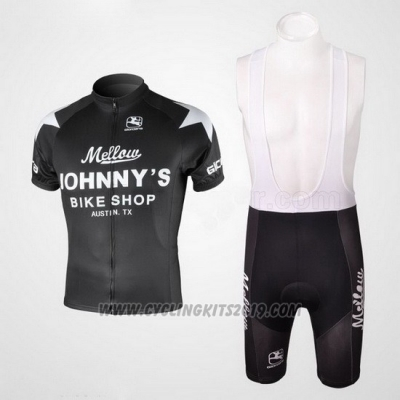 2010 Cycling Jersey Johnnys Black Short Sleeve and Bib Short