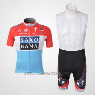 2010 Cycling Jersey Saxo Bank Luxembourg Short Sleeve and Bib Short