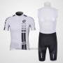 2011 Cycling Jersey Assos White and Black Short Sleeve and Bib Short