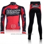 2011 Cycling Jersey BMC Red and Black Long Sleeve and Bib Tight