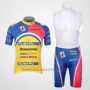 2011 Cycling Jersey Subaru Sky Blue and Yellow Short Sleeve and Bib Short