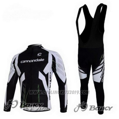 2012 Cycling Jersey Cannondale Black Long Sleeve and Bib Tight