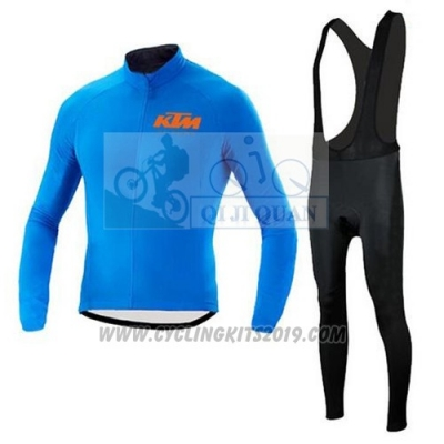 2015 Cycling Jersey Ktm Blue Long Sleeve and Salopette