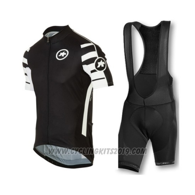 2016 Cycling Jersey Assos Deep Black Short Sleeve and Bib Short