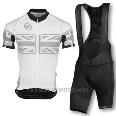 2016 Cycling Jersey Assos Yellow and White Short Sleeve and Bib Short
