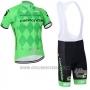 2016 Cycling Jersey Canonodale Green Short Sleeve and Bib Short