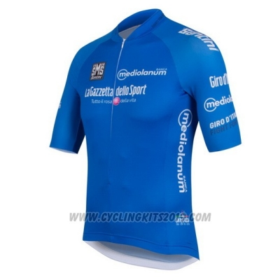 2016 Cycling Jersey Giro D'italy Blue Short Sleeve and Bib Short