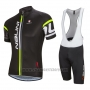 2016 Cycling Jersey Nalini Deep Black Short Sleeve and Salopette