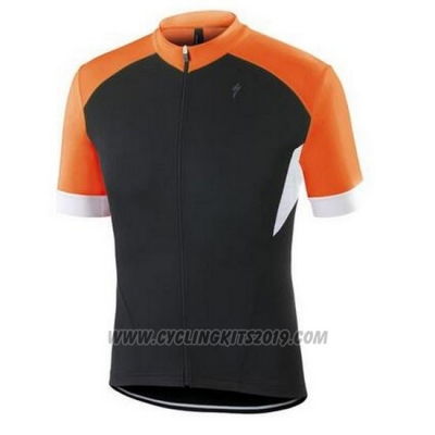 2016 Cycling Jersey Specialized Orange and Black Short Sleeve and Bib Short