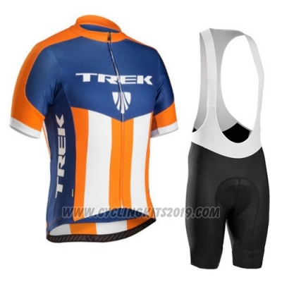 2016 Cycling Jersey Trek Bontrager Blue and Orange Short Sleeve and Bib Short