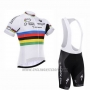 2016 Cycling Jersey UCI Mondo Campione Lider Quick Step White Short Sleeve and Bib Short