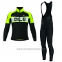 2017 Cycling Jersey ALE Excel Weddell Green Long Sleeve and Bib Tight