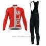 2017 Cycling Jersey ALE Graphics Prr Arcobaleno Red Long Sleeve and Bib Tight