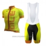 2017 Cycling Jersey ALE Graphics Prr Arcobaleno Yellow Short Sleeve and Bib Short