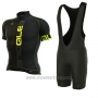 2017 Cycling Jersey ALE Graphics Prr Nominal Yellow and Black Short Sleeve and Bib Short