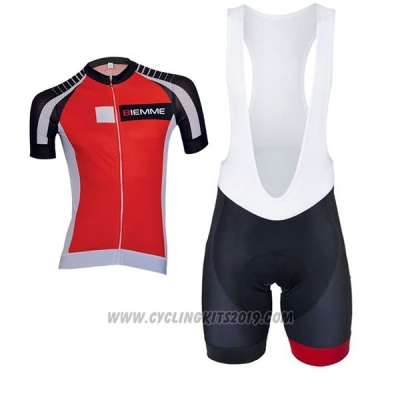 2017 Cycling Jersey Biemme Moody Red Short Sleeve and Bib Short