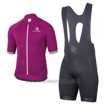 2017 Cycling Jersey Etxeondo Entzun Purple Short Sleeve and Bib Short