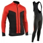 2017 Cycling Jersey Nalini Northwave Ml Red and Black Long Sleeve and Bib Tight