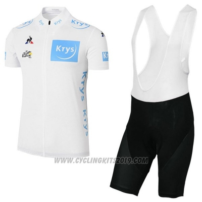 2017 Cycling Jersey Tour de France White Short Sleeve and Bib Short