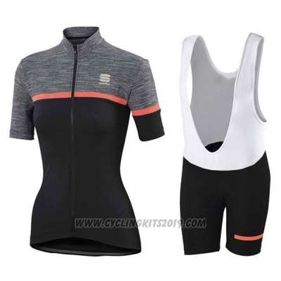 2017 Cycling Jersey Women Sportful Giara Black Short Sleeve and Bib Short