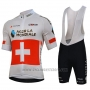 2018 Cycling Jersey Ag2r La Mondiale Campione Switzerland Short Sleeve and Bib Short
