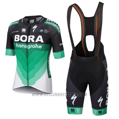 2018 Cycling Jersey Bora Green Short Sleeve and Bib Short