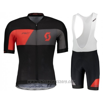 2018 Cycling Jersey Castelli Gray Red Black Short Sleeve and Bib Short