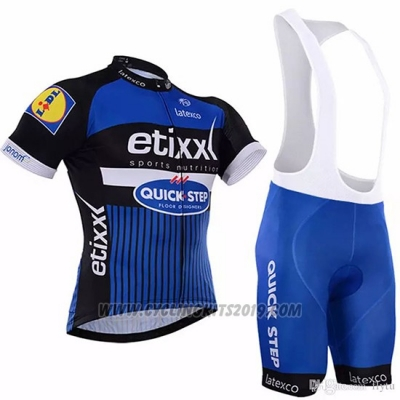 2018 Cycling Jersey Etixx Quick Step Blue Short Sleeve and Bib Short