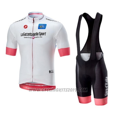 2018 Cycling Jersey Giro D'italy White Short Sleeve and Bib Short