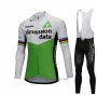2018 Cycling Jersey UCI Mondo Campione Dimension Date Green Long Sleeve and Bib Tight