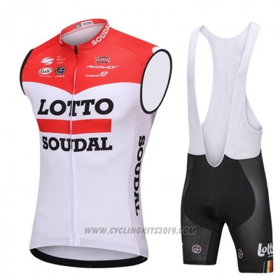 2018 Wind Vest Lotto Soudal Red and White