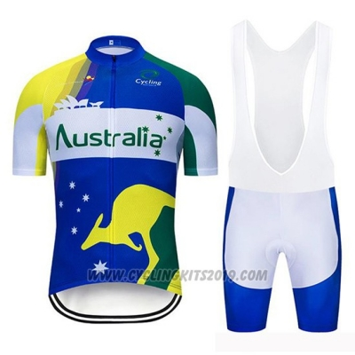 2019 Cycling Jersey Australia Short Sleeve and Bib Short