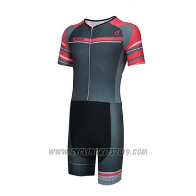 2019 Cycling Jersey Emonder-triathlon Black Gray Red Short Sleeve and Bib Short