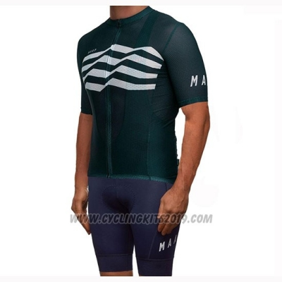 2019 Cycling Jersey Maap Flag Green White Black Short Sleeve and Bib Short