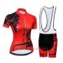 2019 Cycling Jersey Women Weimostar Red Short Sleeve and Bib Short
