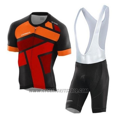 2020 Cycling Jersey Orbea Black Orange Red Short Sleeve and Bib Short