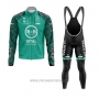 2020 Cycling Jersey Vital Concept-bb Hotels White Green Long Sleeve and Bib Tight