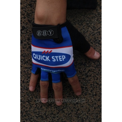 2020 Quick Step Gloves Cycling Blue