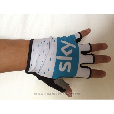 2020 Sky Gloves Cycling Blue White
