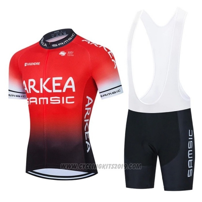 2021 Cycling Jersey Arkea Samsic Red Black Short Sleeve and Bib Short