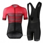 2021 Cycling Jersey Le Col Black Red Short Sleeve and Bib Short