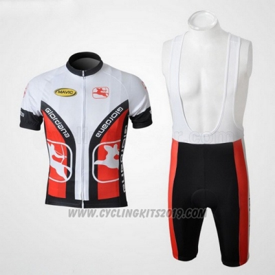 2010 Cycling Jersey Giordana White and Black Short Sleeve and Bib Short
