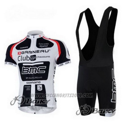 2011 Cycling Jersey BMC White and Black Short Sleeve and Bib Short