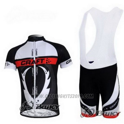 2011 Cycling Jersey Craft White and Black Short Sleeve and Bib Short