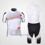2012 Cycling Jersey Northwave Black and White Short Sleeve and Bib Short