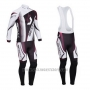 2013 Cycling Jersey Scott White and Fuchsia Long Sleeve and Salopette