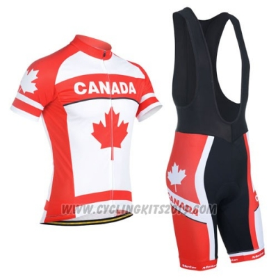 2014 Cycling Jersey Monton Campione Canada Short Sleeve and Bib Short