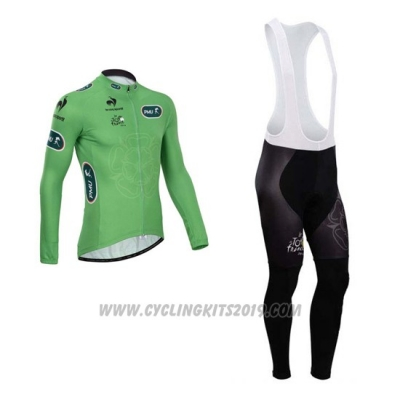 2014 Cycling Jersey Tour de France Vede Militare Long Sleeve and Bib Tight